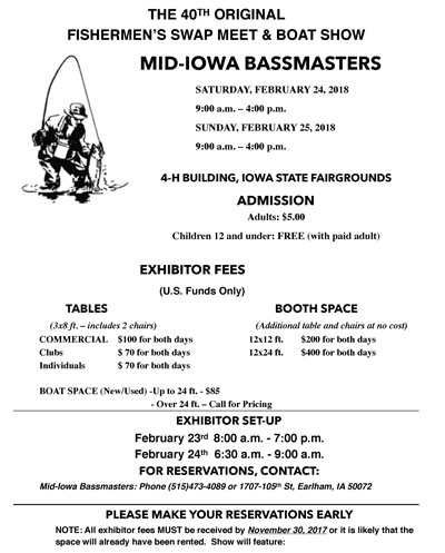 iowa bassmasters swap meet